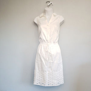 elle white drawstring dress